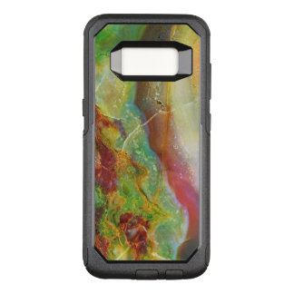 Capa OtterBox Commuter Para Samsung Galaxy S8 Redemoinhos abstratos coloridos do mármore