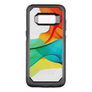 Capa OtterBox Commuter Para Samsung Galaxy S8 Refrigere linhas onduladas dinâmicas coloridas