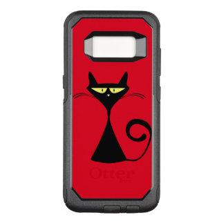 Capa OtterBox Commuter Para Samsung Galaxy S8 Refrigere o gato preto no caso do otterbox da