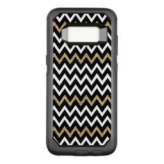Capa OtterBox Commuter Para Samsung Galaxy S8 Refrigere o teste padrão preto de Chevron do