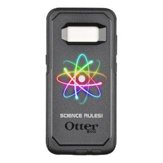 Capa OtterBox Commuter Para Samsung Galaxy S8 Regras coloridas da ciência do símbolo | do átomo