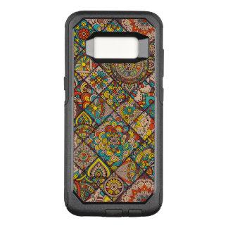 Capa OtterBox Commuter Para Samsung Galaxy S8 Retalhos boémios coloridos da mandala