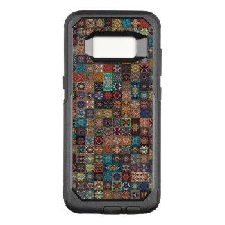 Capa OtterBox Commuter Para Samsung Galaxy S8 Retalhos do vintage com elementos florais da