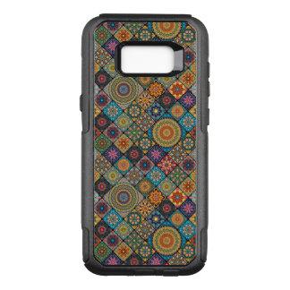 Capa OtterBox Commuter Para Samsung Galaxy S8+ Retalhos do vintage com elementos florais da