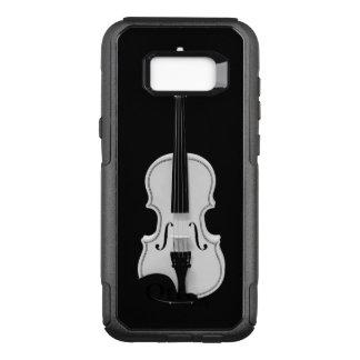 Capa OtterBox Commuter Para Samsung Galaxy S8+ Retrato do violino - fotografia preto e branco