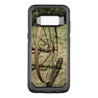 Capa OtterBox Commuter Para Samsung Galaxy S8 Roda do ancinho de feno envelhecida