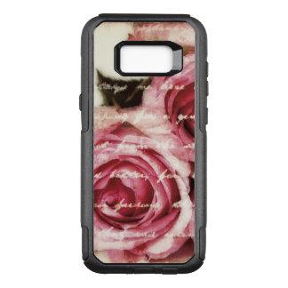 Capa OtterBox Commuter Para Samsung Galaxy S8+ Rosas cor-de-rosa do vintage