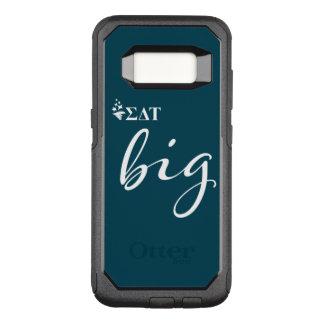 Capa OtterBox Commuter Para Samsung Galaxy S8 Roteiro grande da tau | do delta do Sigma