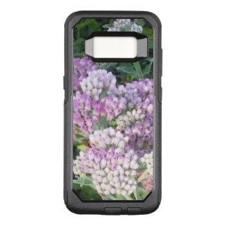 Capa OtterBox Commuter Para Samsung Galaxy S8 Roxo e branco florescidos