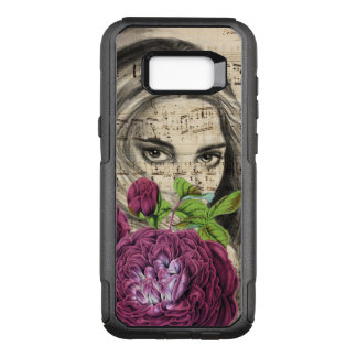 Capa OtterBox Commuter Para Samsung Galaxy S8+ Senhora com rosas