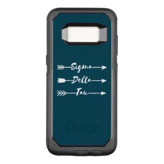 Capa OtterBox Commuter Para Samsung Galaxy S8 Seta da tau | do delta do Sigma