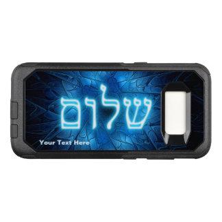 Capa OtterBox Commuter Para Samsung Galaxy S8 Shalom azul de incandescência na estrela de David