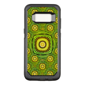 Capa OtterBox Commuter Para Samsung Galaxy S8 Shell verde e amarelo abstrato como o design