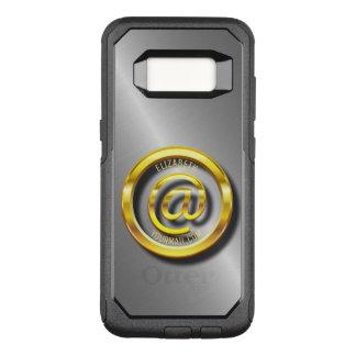 Capa OtterBox Commuter Para Samsung Galaxy S8 Símbolo dourado 3D do email com sombras