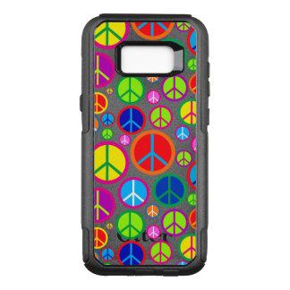 Capa OtterBox Commuter Para Samsung Galaxy S8+ Símbolos de paz Groovy coloridos legal
