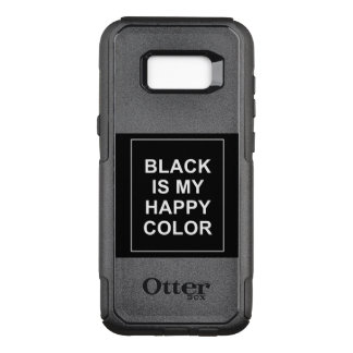 CAPA OtterBox COMMUTER PARA SAMSUNG GALAXY S8+ SKAM - BLACK IS MY HAPPY COLOR