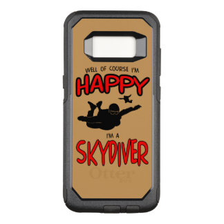 Capa OtterBox Commuter Para Samsung Galaxy S8 Skydiver feliz (preto)