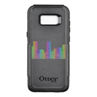 Capa OtterBox Commuter Para Samsung Galaxy S8+ Skyline da cidade de Denver