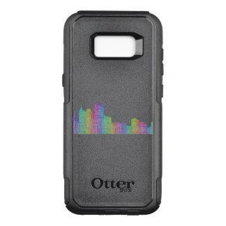 Capa OtterBox Commuter Para Samsung Galaxy S8+ Skyline da cidade de Detroit