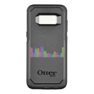 Capa OtterBox Commuter Para Samsung Galaxy S8 Skyline da cidade de Detroit
