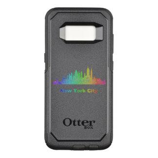 Capa OtterBox Commuter Para Samsung Galaxy S8 Skyline da Nova Iorque do arco-íris