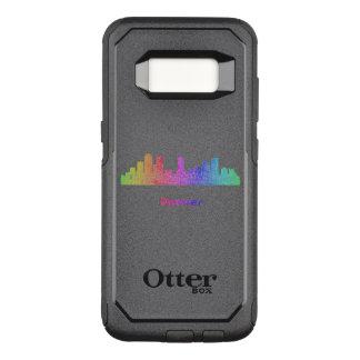 Capa OtterBox Commuter Para Samsung Galaxy S8 Skyline de Denver do arco-íris