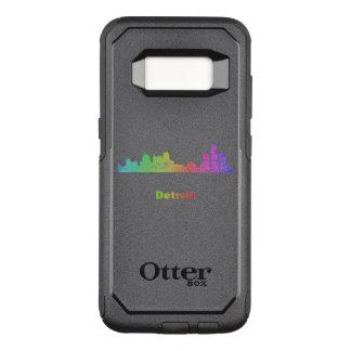 Capa OtterBox Commuter Para Samsung Galaxy S8 Skyline de Detroit do arco-íris