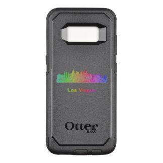 Capa OtterBox Commuter Para Samsung Galaxy S8 Skyline de Las Vegas do arco-íris