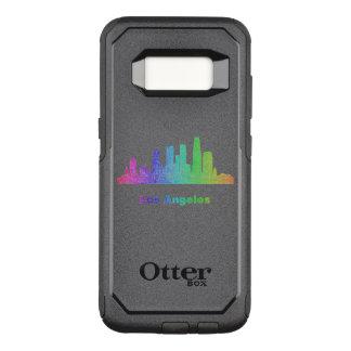 Capa OtterBox Commuter Para Samsung Galaxy S8 Skyline de Los Angeles do arco-íris