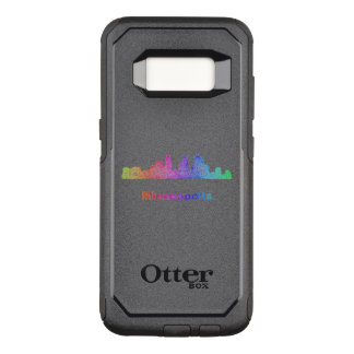 Capa OtterBox Commuter Para Samsung Galaxy S8 Skyline de Minneapolis do arco-íris