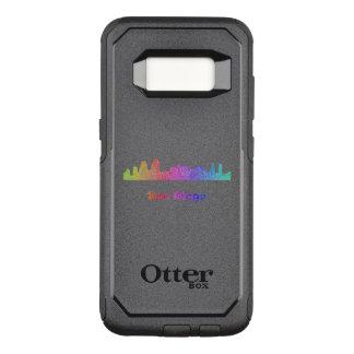 Capa OtterBox Commuter Para Samsung Galaxy S8 Skyline de San Diego do arco-íris