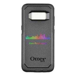 Capa OtterBox Commuter Para Samsung Galaxy S8 Skyline de San Francisco do arco-íris