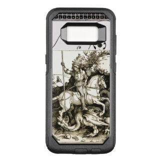 Capa OtterBox Commuter Para Samsung Galaxy S8 ST GEORGE E DRAGÃO, branco preto