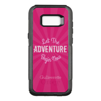 Capa OtterBox Commuter Para Samsung Galaxy S8+ Starburst cor-de-rosa deixou a aventura começar