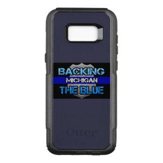 Capa OtterBox Commuter Para Samsung Galaxy S8+ Suportando a caixa azul de Michigan Otterbox