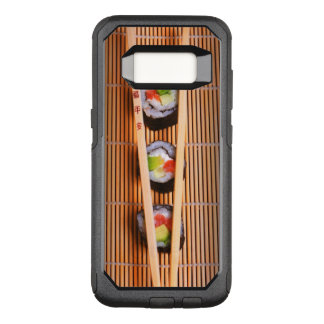 Capa OtterBox Commuter Para Samsung Galaxy S8 Sushi e chopsticks de madeira