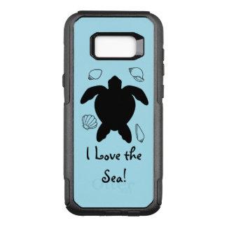 Capa OtterBox Commuter Para Samsung Galaxy S8+ Tartaruga de mar: Eu amo o mar