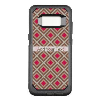 Capa OtterBox Commuter Para Samsung Galaxy S8 Taupe, Taupe claro, diamantes STaylor de Ikat do