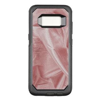 Capa OtterBox Commuter Para Samsung Galaxy S8 Tecido metálico cor-de-rosa amarrotado de Lame do
