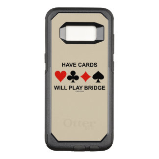 Capa OtterBox Commuter Para Samsung Galaxy S8 Tenha cartões jogará ternos do cartão da ponte
