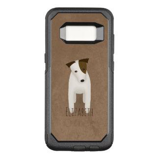 Capa OtterBox Commuter Para Samsung Galaxy S8 terrier bonito de russell do jaque da inclinação