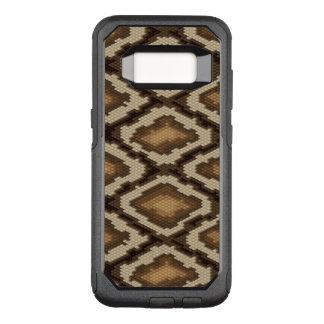 Capa OtterBox Commuter Para Samsung Galaxy S8 Teste padrão 2 da pele de cobra do pitão