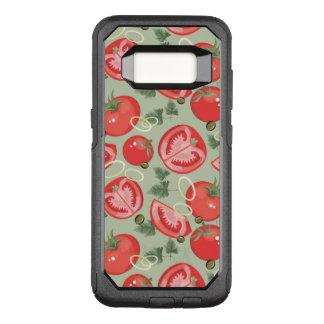 Capa OtterBox Commuter Para Samsung Galaxy S8 Teste padrão abstrato com tomate