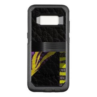 Capa OtterBox Commuter Para Samsung Galaxy S8 Teste padrão amarelo do rico do roxo