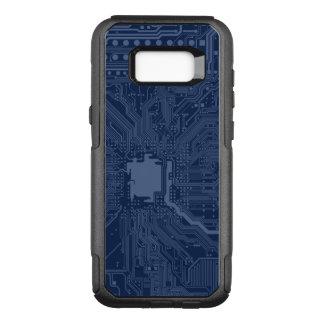 Capa OtterBox Commuter Para Samsung Galaxy S8+ Teste padrão azul do circuito do cartão-matriz do