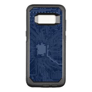 Capa OtterBox Commuter Para Samsung Galaxy S8 Teste padrão azul do circuito do cartão-matriz do