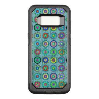 Capa OtterBox Commuter Para Samsung Galaxy S8 Teste padrão azul retro sujo do círculo
