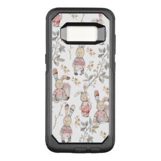 Capa OtterBox Commuter Para Samsung Galaxy S8 Teste padrão bonito da aguarela dos coelhinhos da