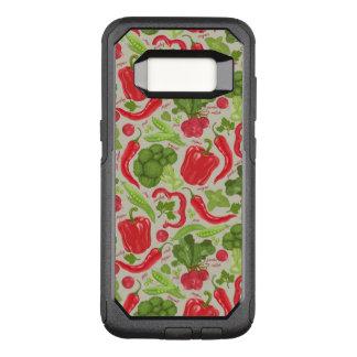 Capa OtterBox Commuter Para Samsung Galaxy S8 Teste padrão brilhante dos legumes frescos