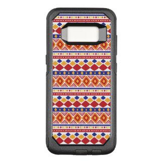 Capa OtterBox Commuter Para Samsung Galaxy S8 Teste padrão colorido chique de Ethno